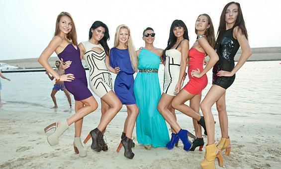 Ibiza women with dresses