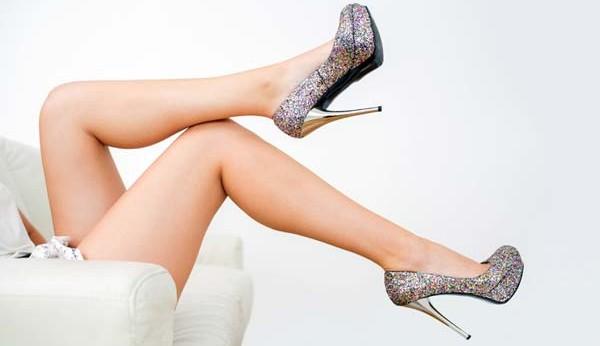woman legs wearing heels